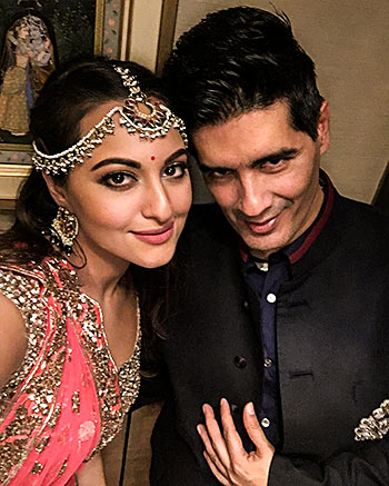 Sonakshi Sinha and Manish Malhotra