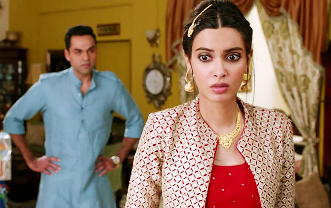 Diana Penty and Abhay Deol in Happy Bhaag Jayegi