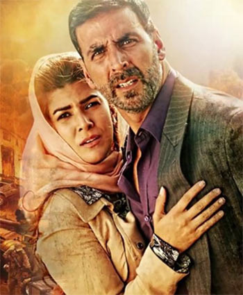 Nimrat Kaur and Akshay Kumar in Airlift
