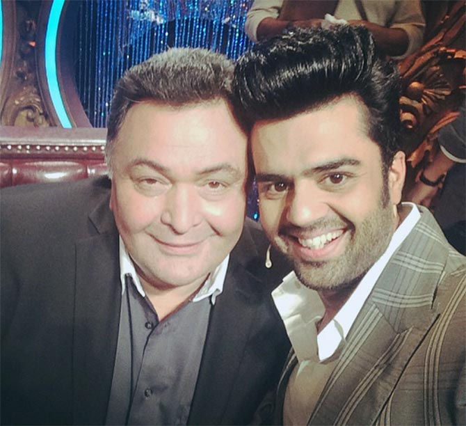 Manish Paul and Rishi Kapoor