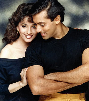 Madhuri Dixit and Salman Khan in Hum Aapke Hain Koun...!