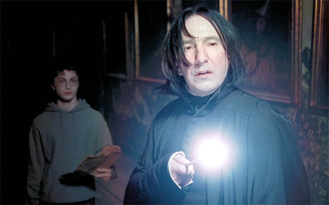 Daniel Radcliffe and Alan Rickman
