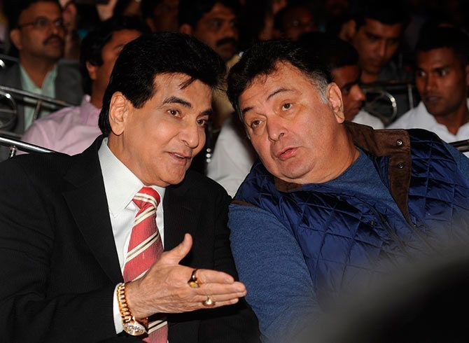 Jeetendra and Rishi Kapoor