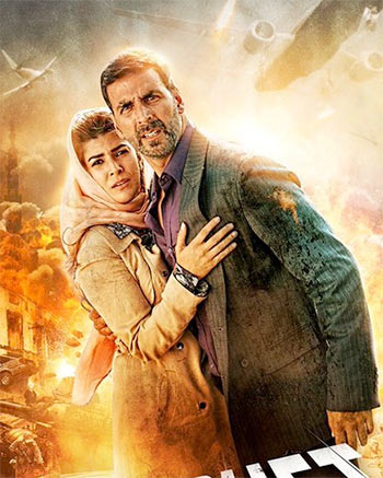 Akshay Kumar and Nimrat Kaur in Airlift