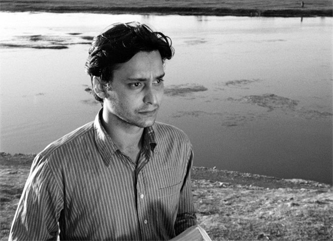 Soumitra Chatterjee in his first film, Satyajit Ray's classic Apur Sansar