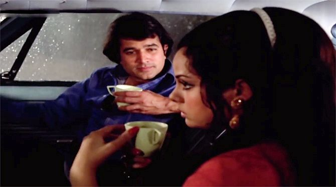 Rajesh Khanna and Mumtaz