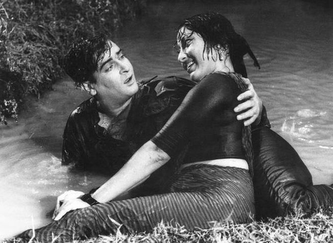 Shammi Kapoor and Mala Sinha