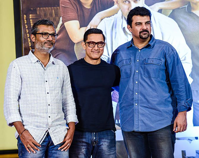 Nitish Tiwari, Aamir Khan and Siddharth Roy Kapur