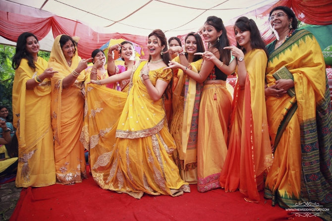 Haldi function is one of the prominent rituals in Indian marriages.
