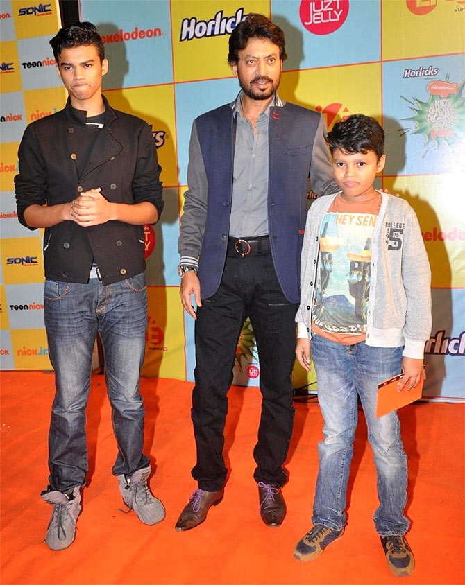 Irrfan with his sons, Babil and Ayan