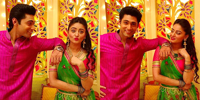 Ruslaan Mumtaz and Mahi Vij