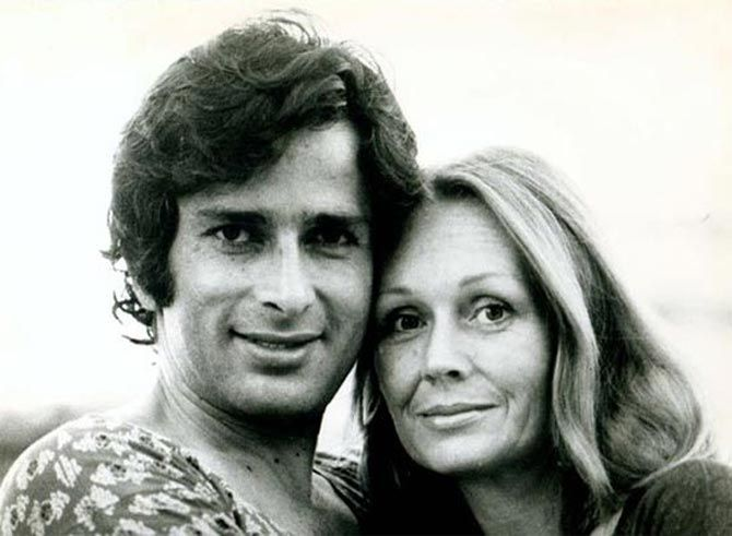 Shashi Kapoor with the love of his life, his wife Jennifer.