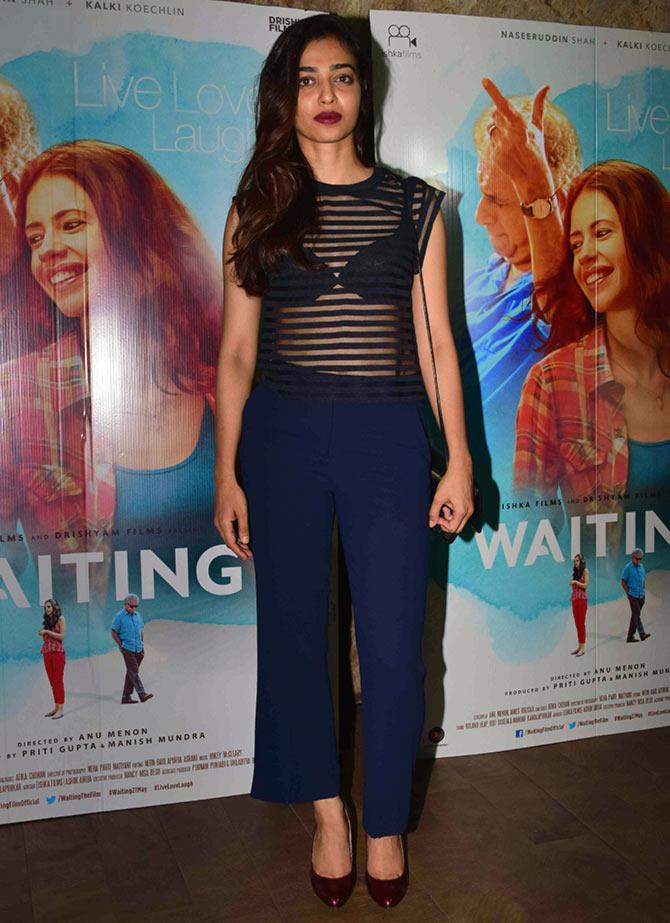PIX: Huma Qureshi, Radhika Apte watch Waiting with Kalki