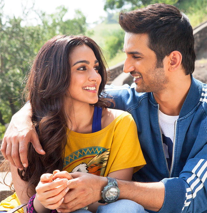 Kiara Advani and Sushant Singh Rajput