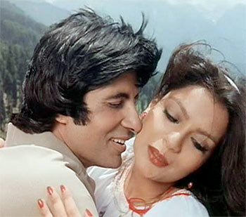 Amitabh Bachchan and Zeenat Aman in Laawaris