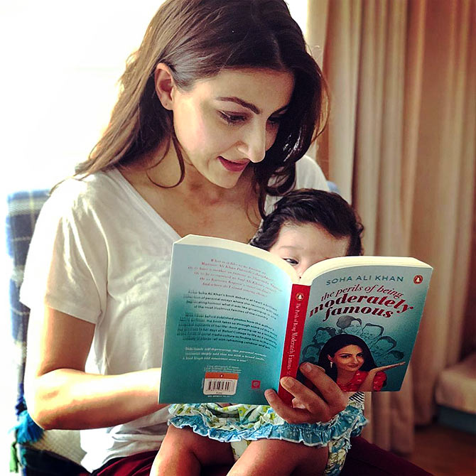 Soha Ali Khan with her daughter, Inaaya