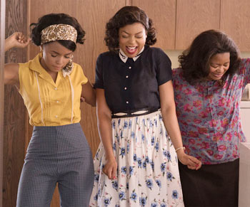 Janelle Monae, Taraji P Henson and Octavia Spencer in hidden Figures