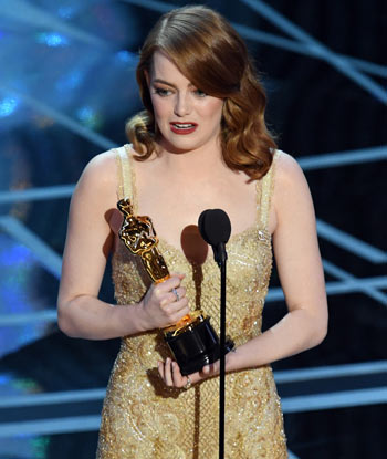 Emma Stone wins best actress for La La Land