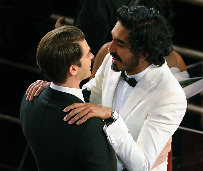 Dev Patel, right, and Andrew Garfield