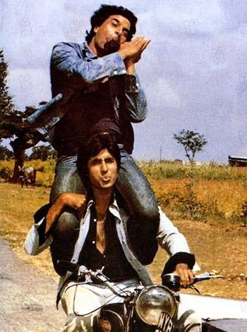 Amitabh Bachcha and Dharmendra in Sholay
