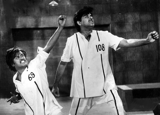 Shatrughan Sinha and Rajinikanth in Asli Naqli
