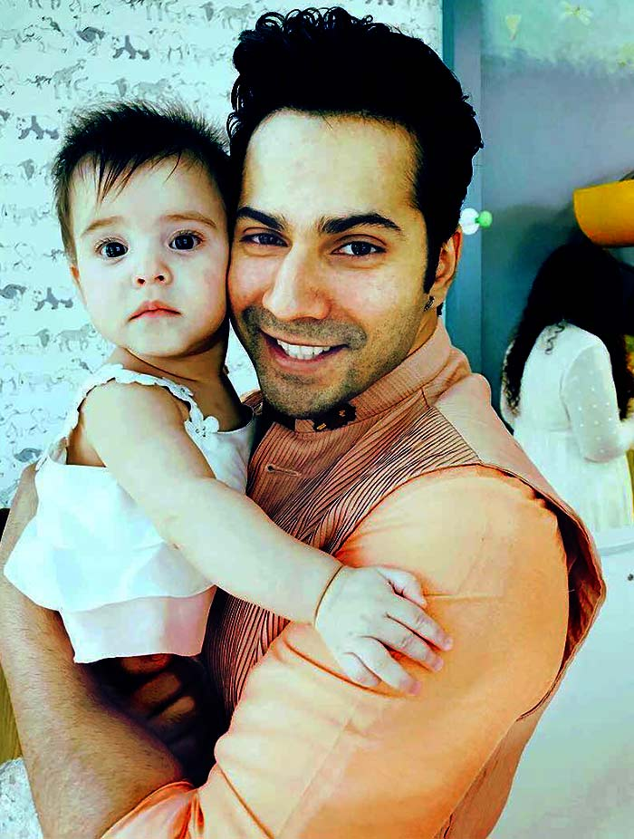 Varun With Kjos Baby Girl The Cutest Baby Pictures Rediffcom Movies
