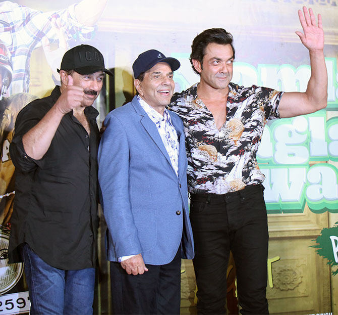 Sunny, Dharmendra and Bobby Deol