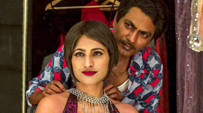 Kubbra Sait and Nawazuddin Siddiqui in Sacred Games