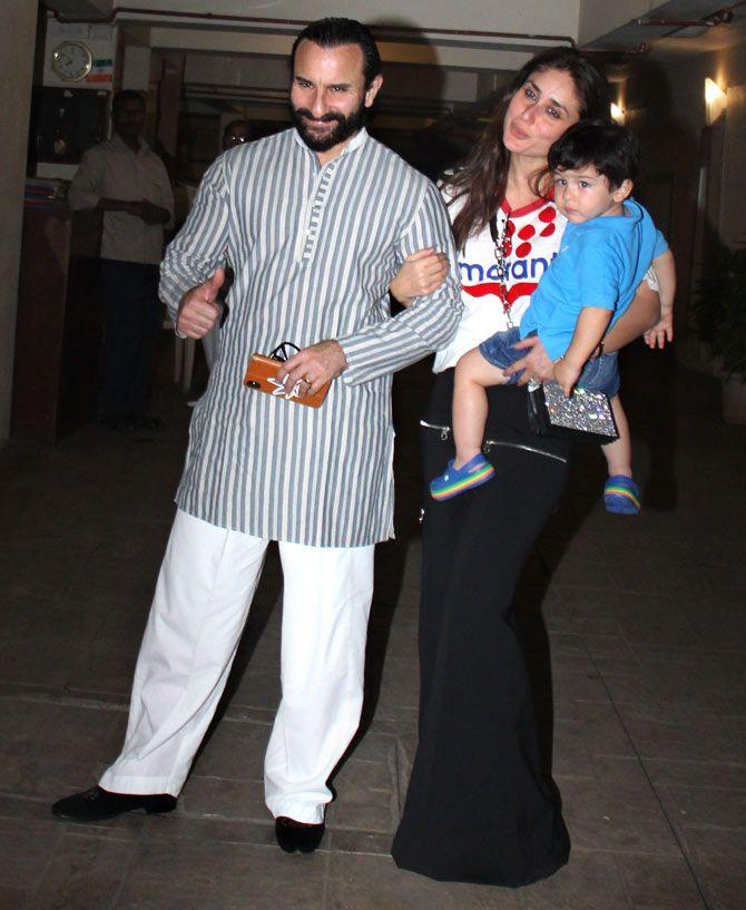 Taimur Ali Khan with his parents Kareena Kapoor Khan and Saif Ali Khan