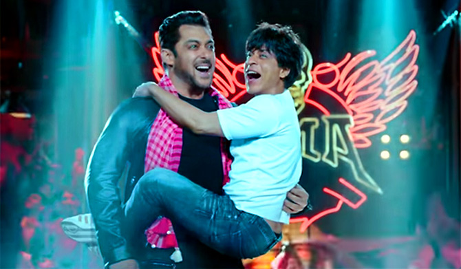 Shah Rukh Khan and Salman Khan in Zero