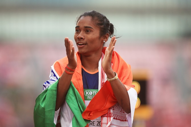 Athlete Hima Das has a special Independence Day message