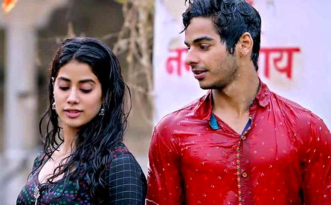 Janhvi Kapoor and Ishan Khatter in Dhadak