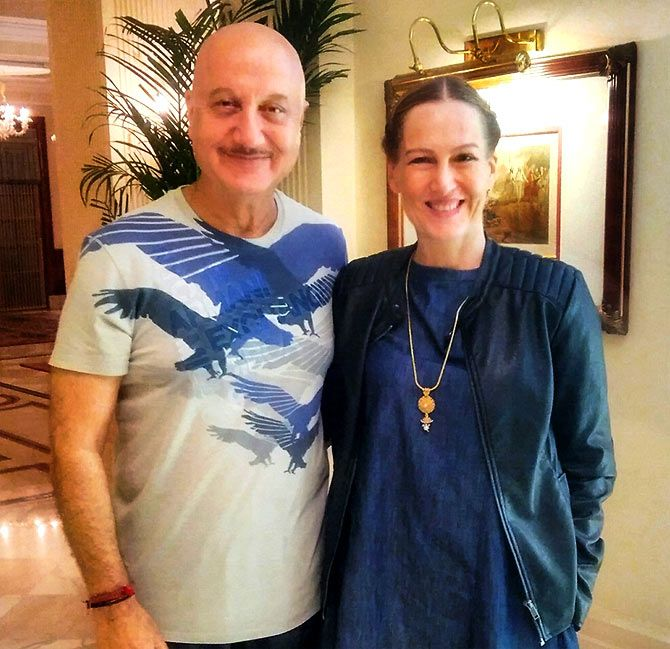 German actress Suzanne Bernert plays Sonia Gandhi