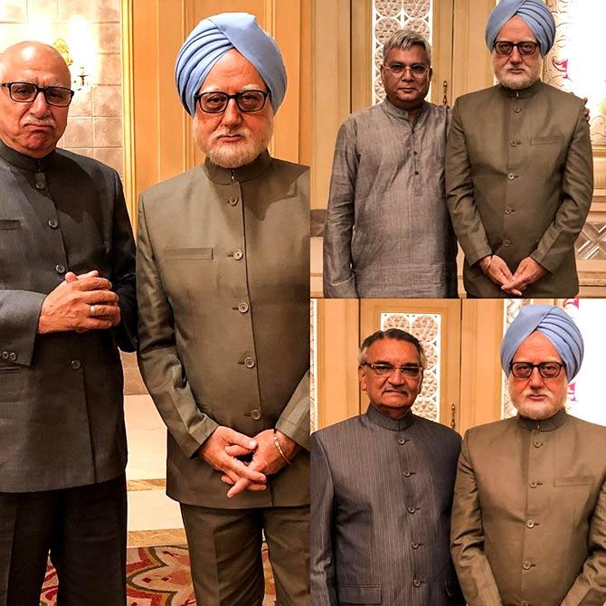 Avtar Sahni, left, plays Lal Kishenchand Advani, then the BJP leader