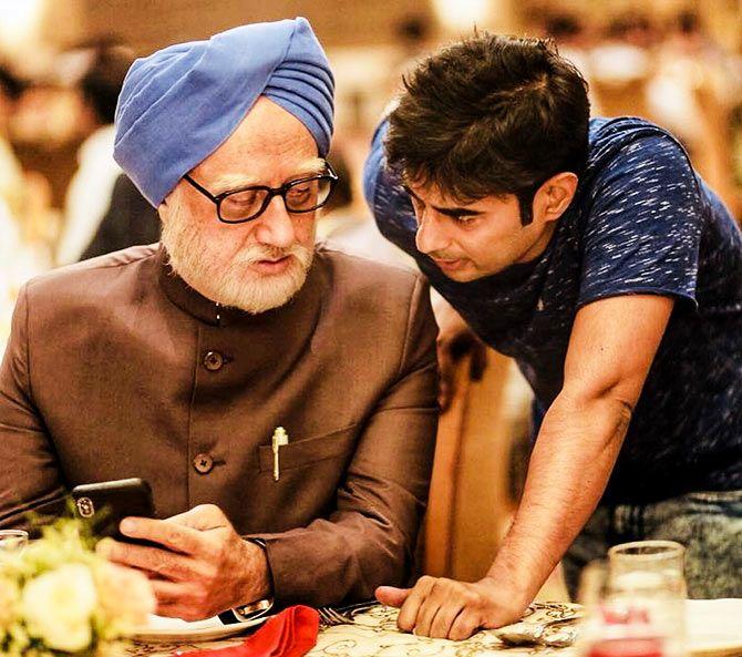 Anupam Kher with Director Vijay Ratnakar Gutte