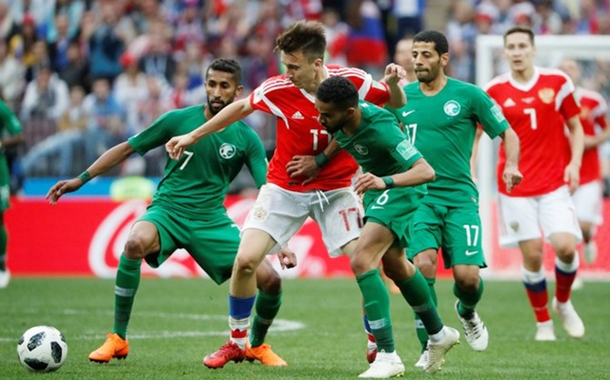 Saudi coach feels the shame in heavy defeat by Russia