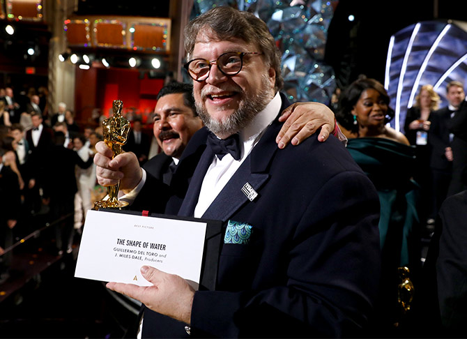 Guillermo del Toro won the Best Director Oscar for  The Shape of Water, which also won the Oscar for Best Picture. Photograph: Matt Sayles/A.M.P.A.S via Getty Images