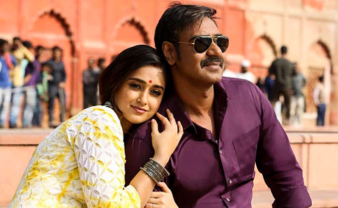 Ajay Devgn and Ileana D'Cruz in Raj Kumar Gupta's Raid
