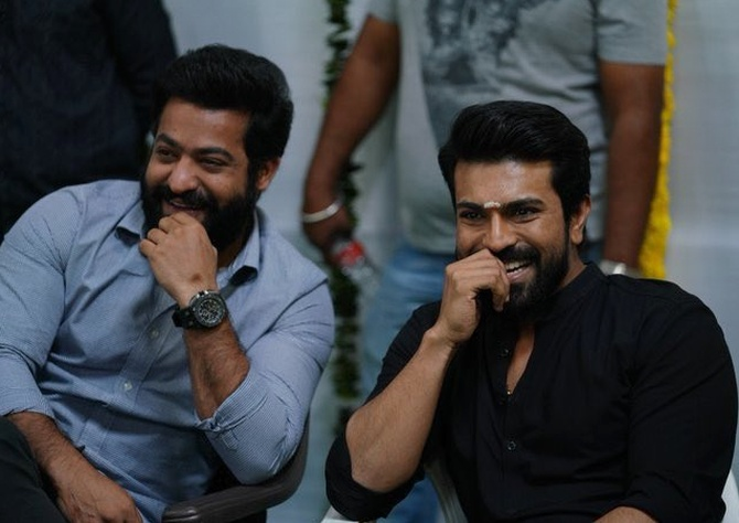 NTR  and Ram Charan are no doubt pleased to feature in S S Rajamouli's new film