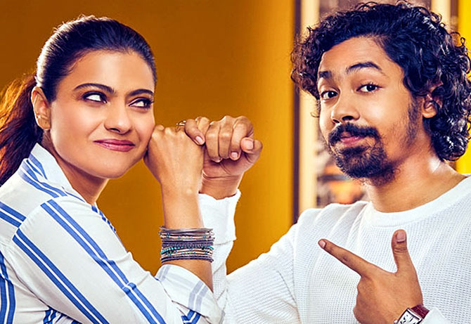 Kajol and Riddhi Sen in Helicopter Eela