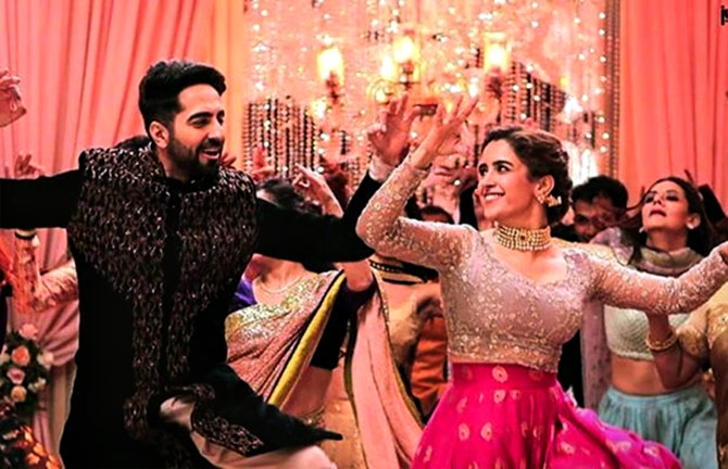 A song sequence from the Ayushmann Khurrana starer 'Badhaai Ho'!