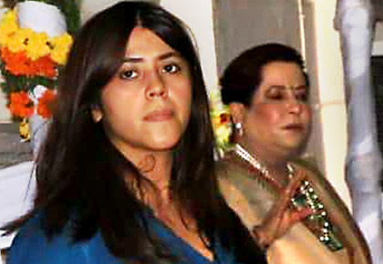 Ekta Kapoor bids goodbye to Lord Ganesha