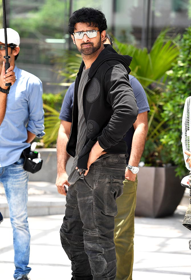 Prabhas on the sets of Saaho.