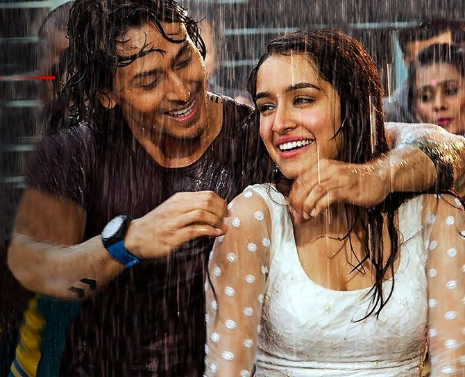 Shraddha with Tiger Shroff in the Cham Cham song in Baaghi.
