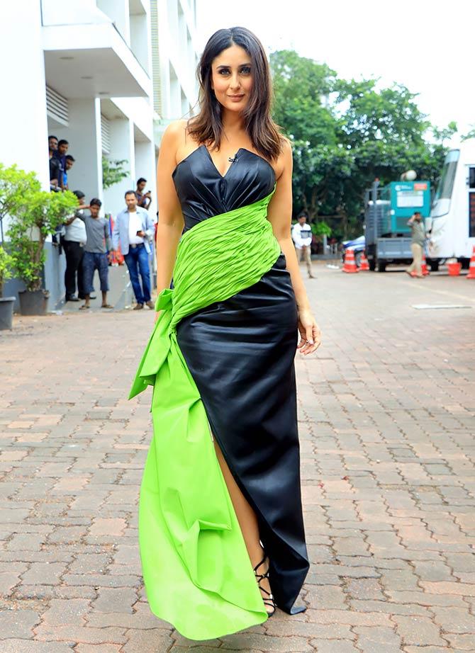 Pics: Kareena, Kriti 'sash' it up in style
