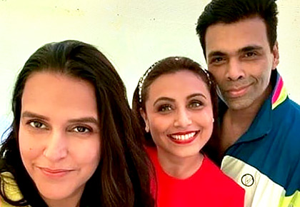 PIX: Karan, Neha party with Rani Mukerji