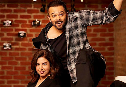 Current Bollywood News & Movies - Indian Movie Reviews, Hindi Music & Gossip - Rohit Shetty welcomes Farah Khan, but why?