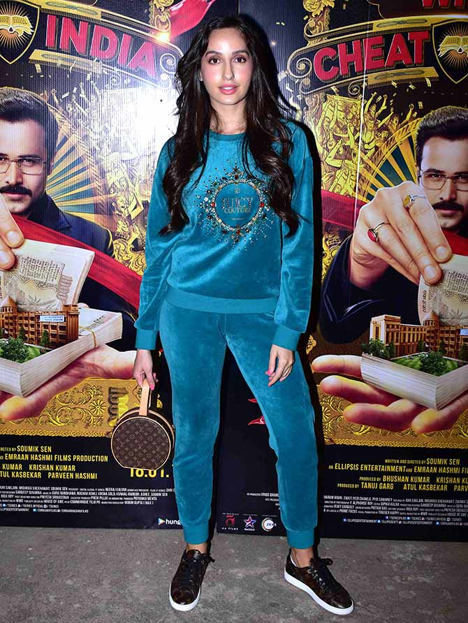 Current Bollywood News & Movies - Indian Movie Reviews, Hindi Music & Gossip - PIX: Nora, Sophie, Pooja watch Why Cheat India