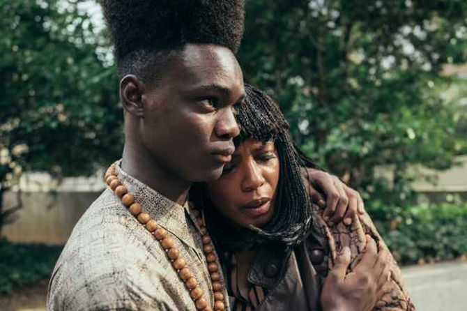 Aunjanue Ellis and Ethan Herisse in When They See Us