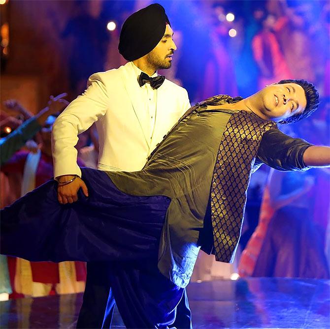 Diljit with co-star Varun Sharma. Photograph: Kind courtesy Diljit Dosanjh/Instagram